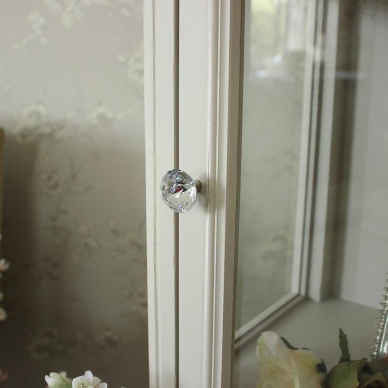 Elise Grey Range - Tall Glazed Display Cabinet
