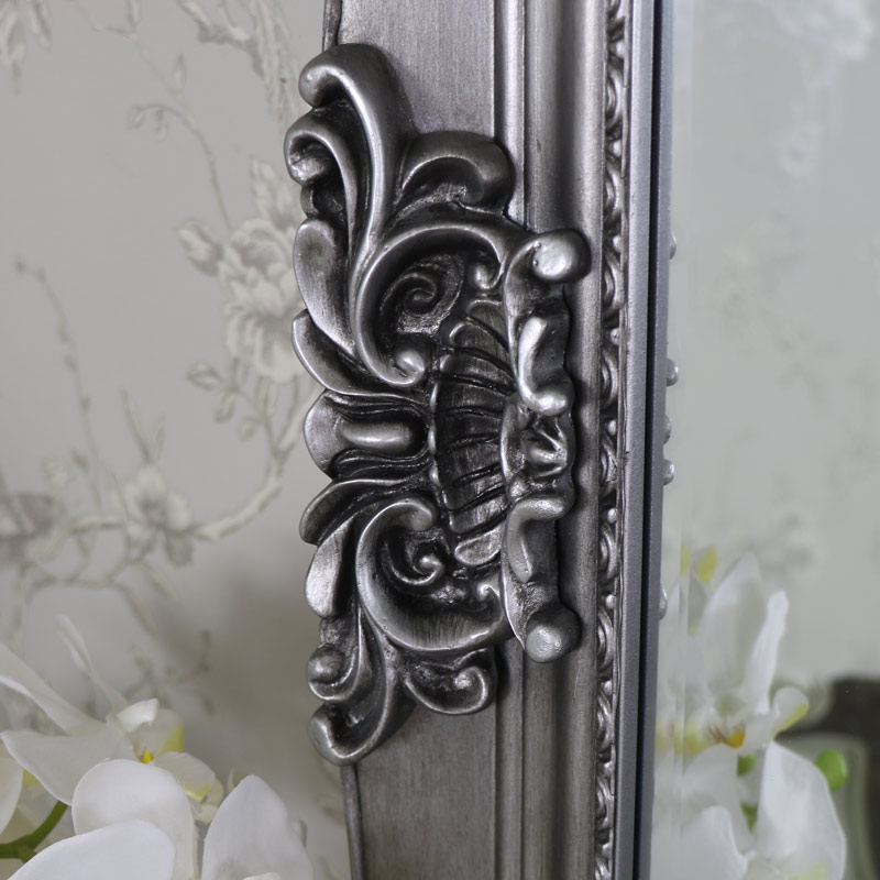 Extra Extra Large Ornate Antique Silver Full Length Wall