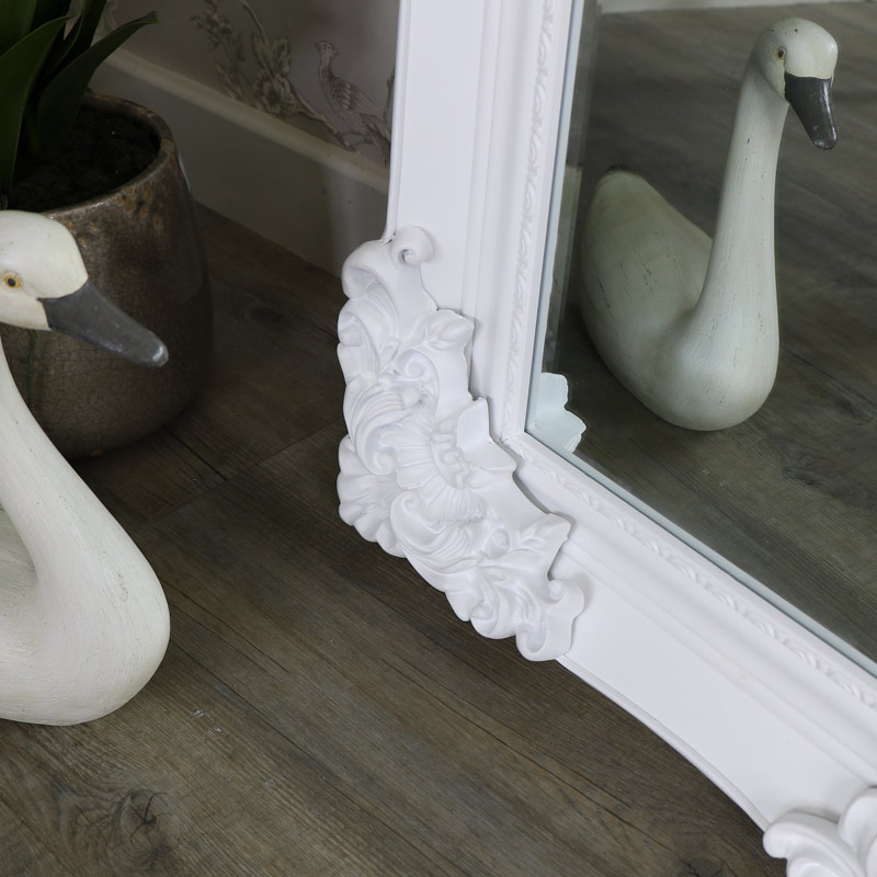 Extra, Extra Large Ornate White Full Length Wall/Floor Mirror