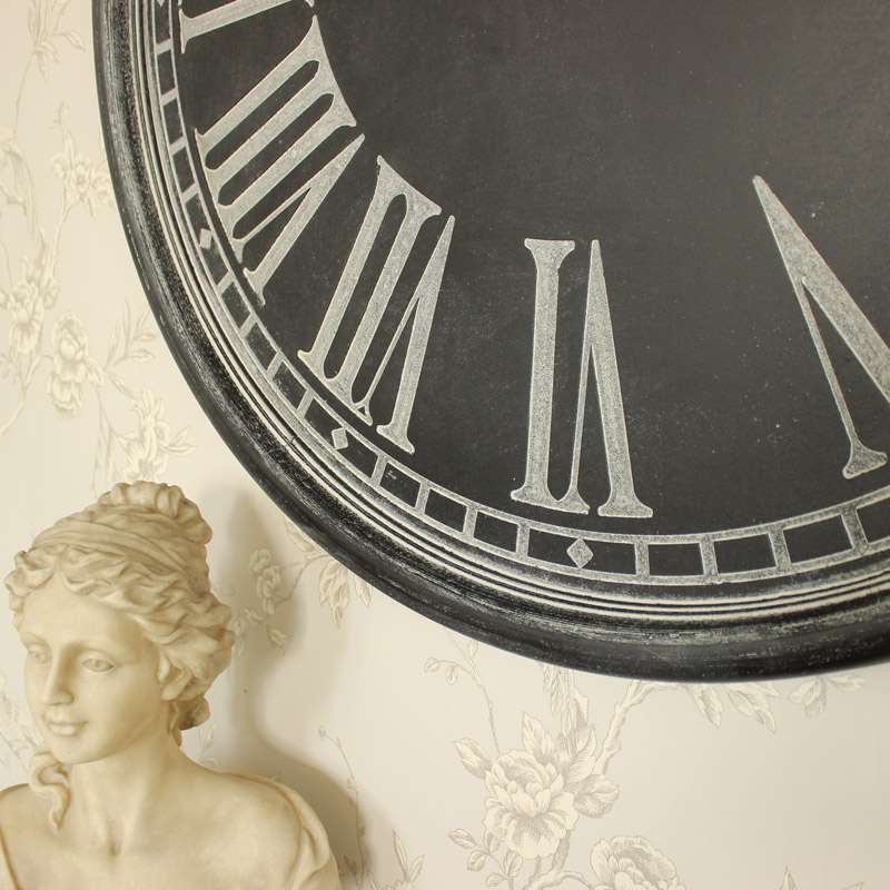 Extra Large Dark Grey Wall Clock