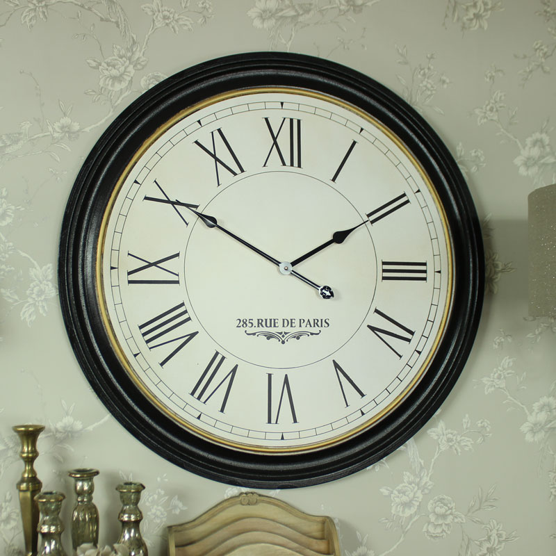 Extra Large Wooden Station Wall Clock Melody Maison