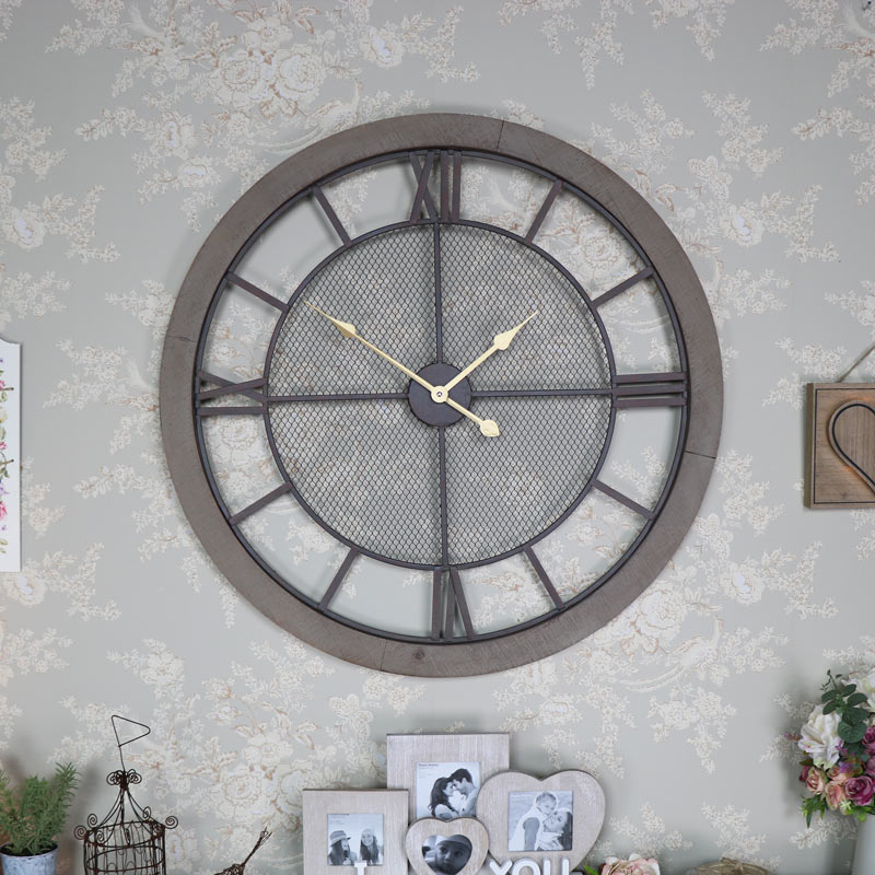 Extra Large Rustic Wall Clock Melody Maison 174