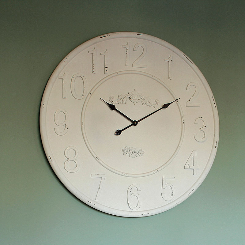 Extra Large White Wall Clock Melody Maison