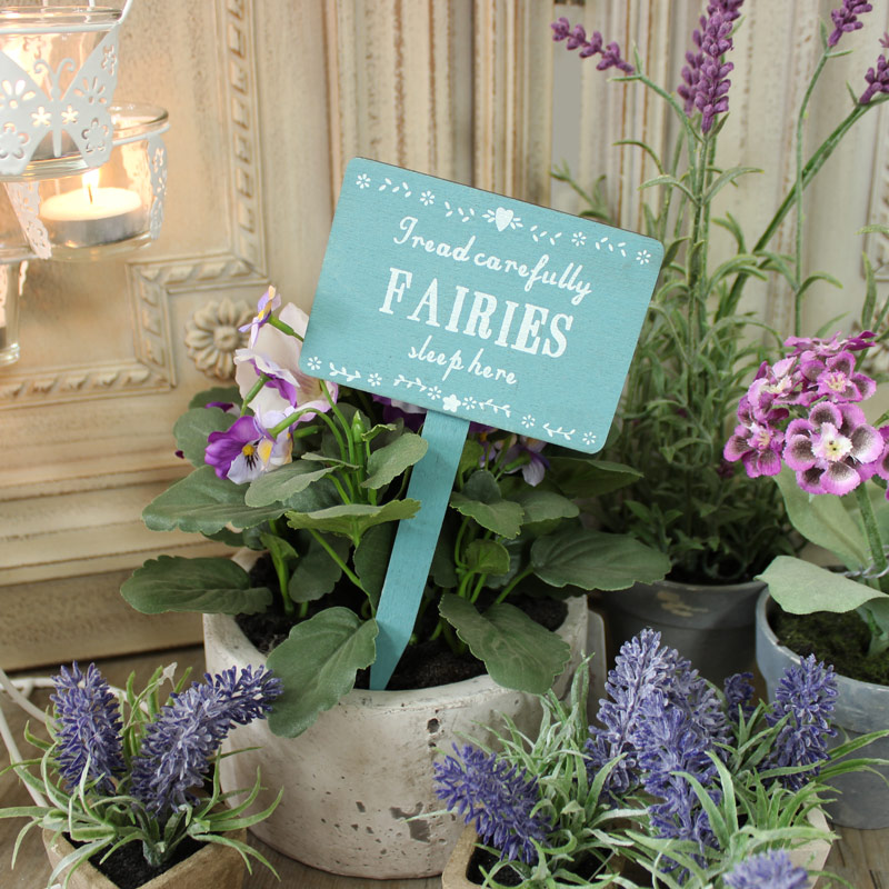 'Fairies Sleep Here' Wooden Garden Sign