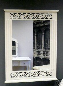 French style White mirror