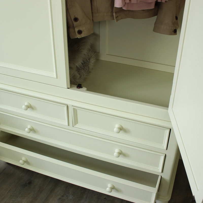 Florence Range - Cream 2 Over 2 Wardrobe