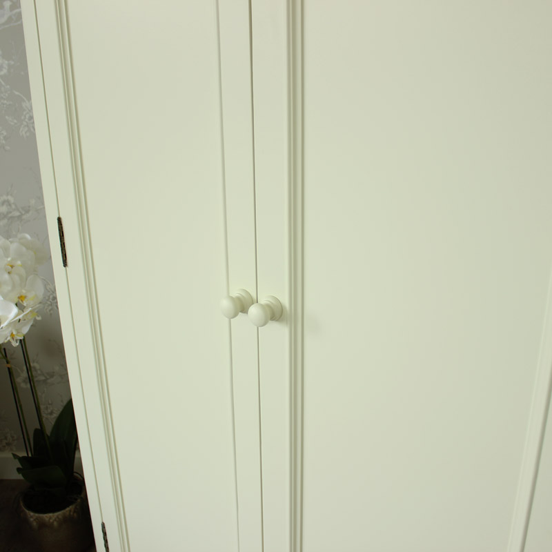 Florence Range - Cream Double Wardrobe