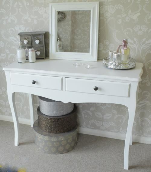 Very Best White dressing table large bedroom furniture vintage console hall  500 x 567 · 34 kB · jpeg
