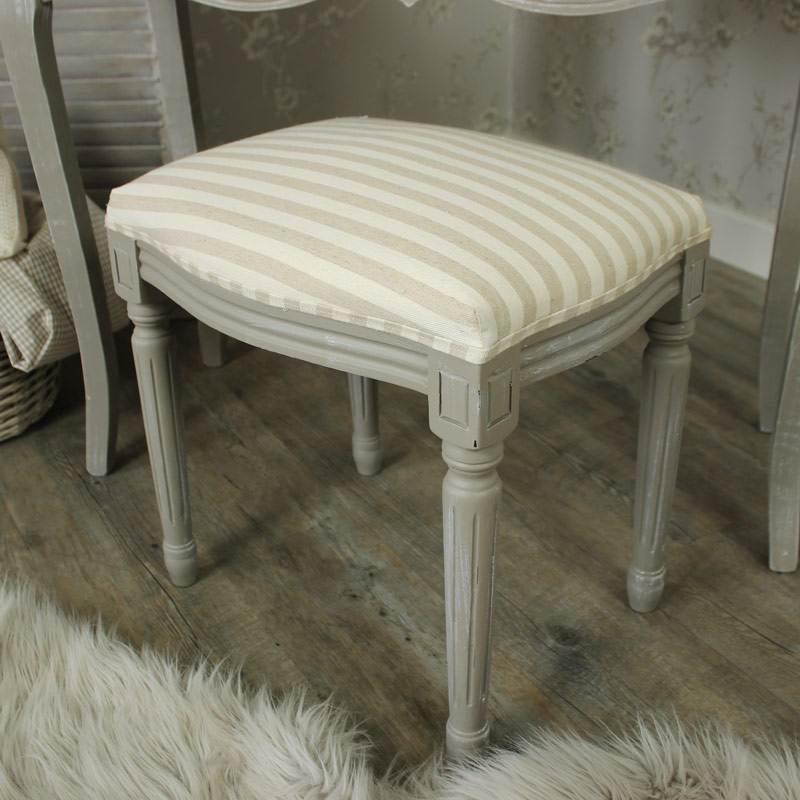 french grey dressing table and fabric stool distressed shabby chic bedroom home ebay. Black Bedroom Furniture Sets. Home Design Ideas