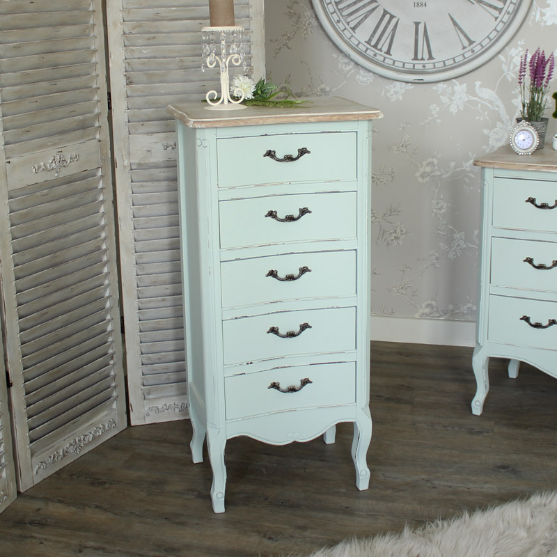 Genevieve Range - Five Drawer Tall boy