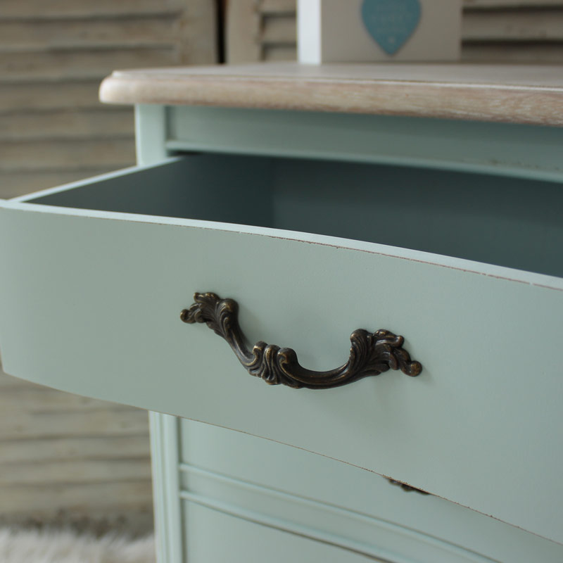 Genevieve Range - Three Drawer Bedside Table