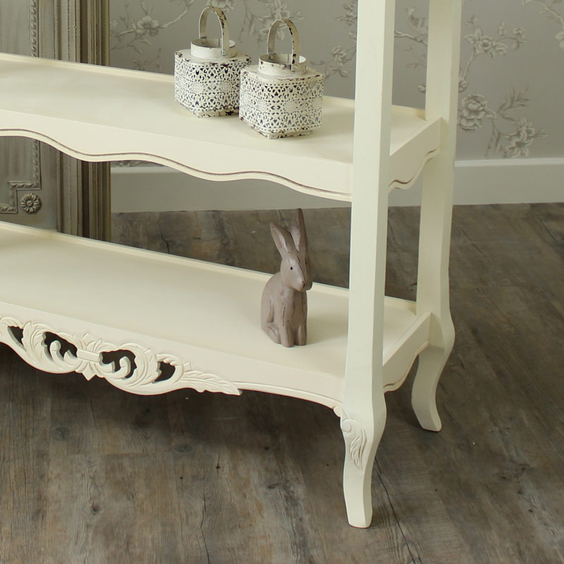 Georgette Range - 3 Shelf Hall Console Table