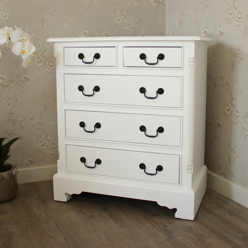 Georgiano Range - White 5 Drawer Chest
