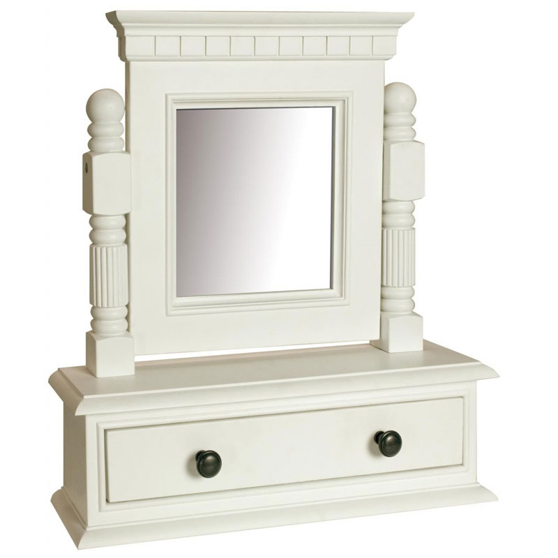 Georgiano range white dressing table swing mirror with for Range dressing table