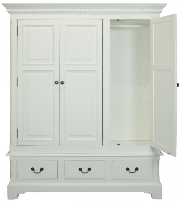Georgiano Range - White Triple Wardrobe