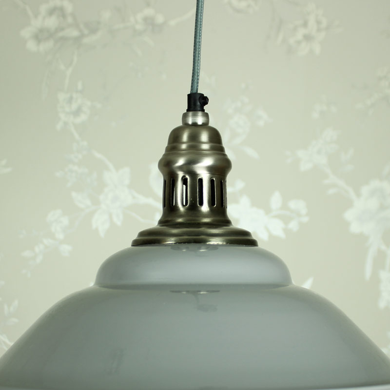 Grey And Silver Hanging Pendant Light
