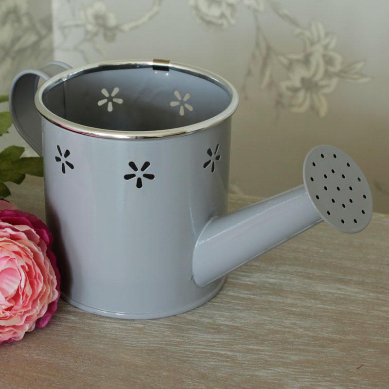 Grey Vintage Metal Watering Can
