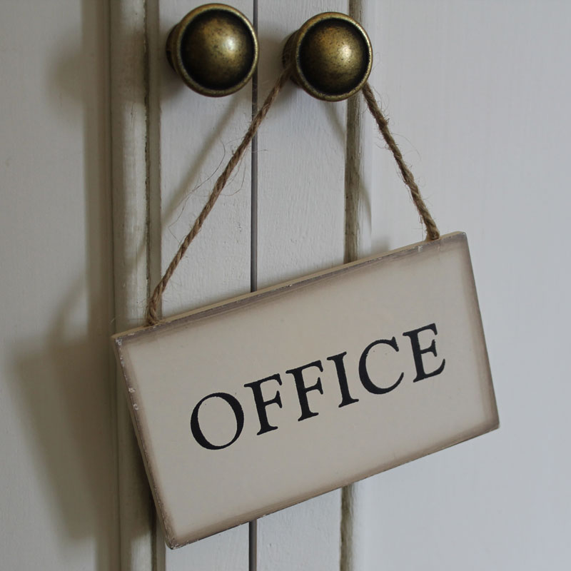 Hanging Vintage Office Sign