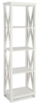 Heritage Range - Antique White 4 Shelving Unit