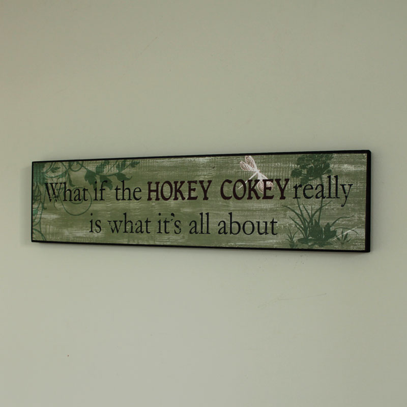 Hokey Cokey Wall Plaque