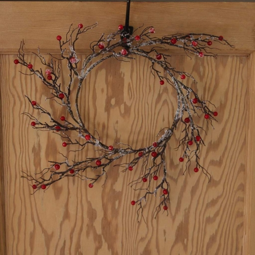 Ice and Berry Christmas Door Wreath