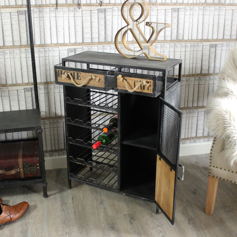Industrial Range - Large Metal Wine Cabinet