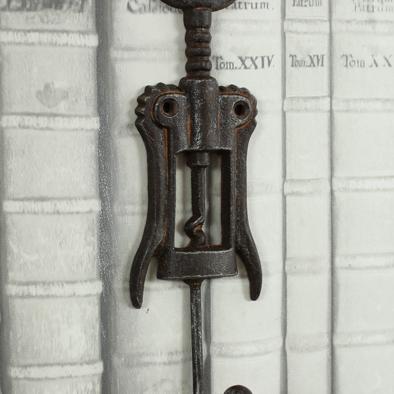 Iron Corkscrew Wall Hook