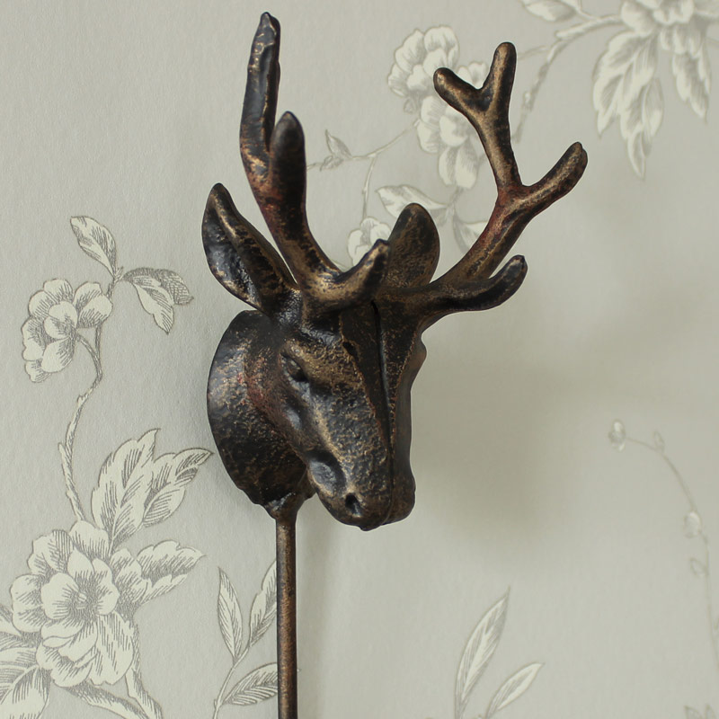 Iron Metal Stag Hook