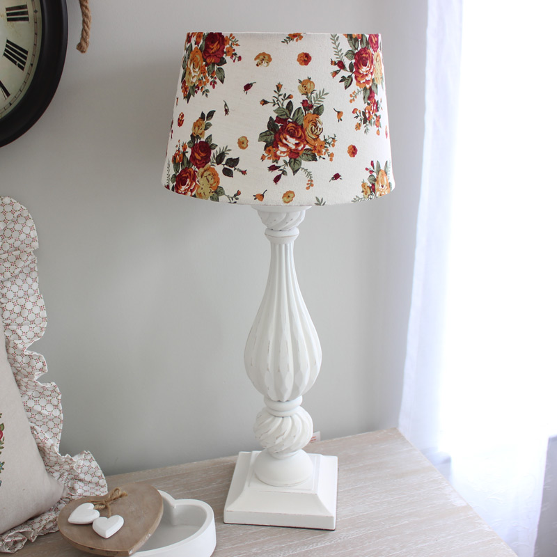 Ivory Lamp and Floral Shade
