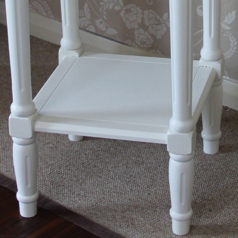 Ivory Square Lamp Table