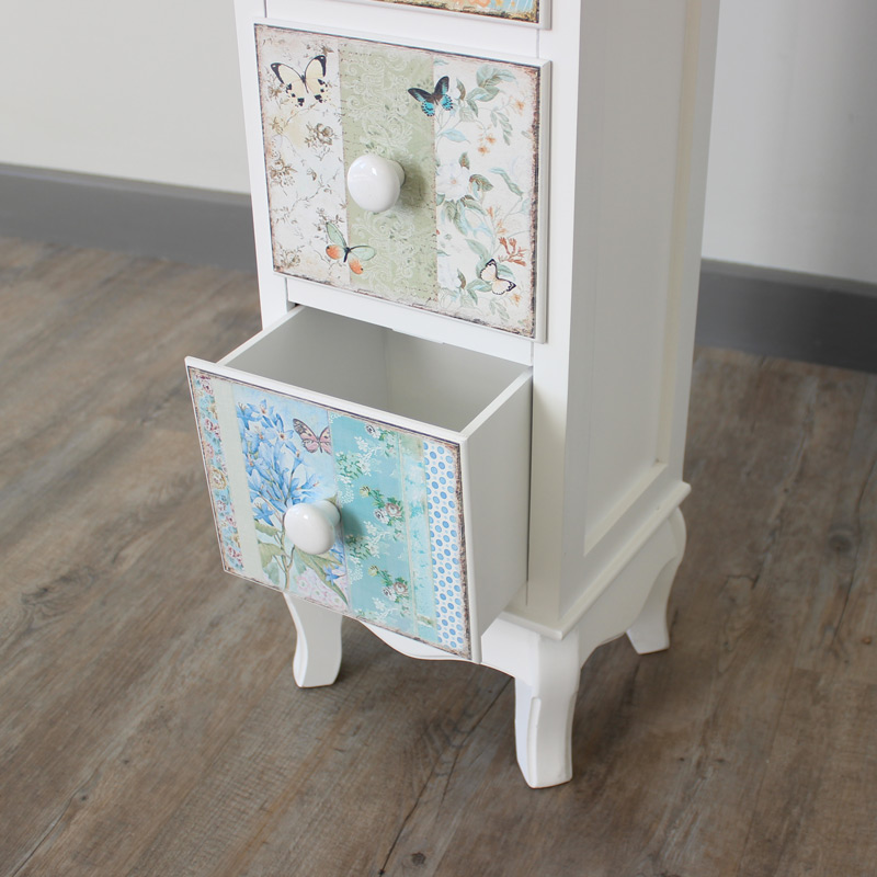Jessica Range - Five Drawer Tall Boy Unit