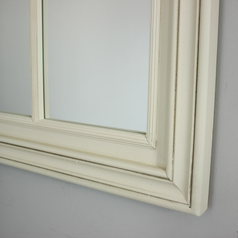 Large Cream Window Mirror