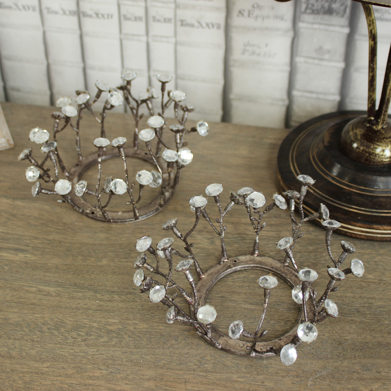 Large Jewelled Candle Ring