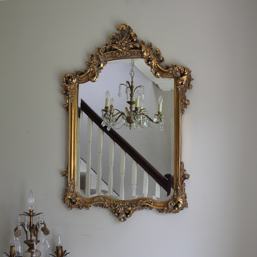 Large ornate gold wall mirror - Melody Maison®