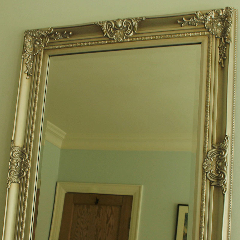Large ornate silver wall mirror melody maison for Large silver wall mirror