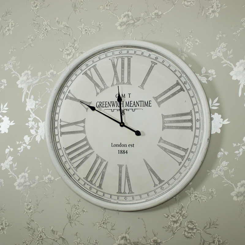 awesome picture of large grey wall clock