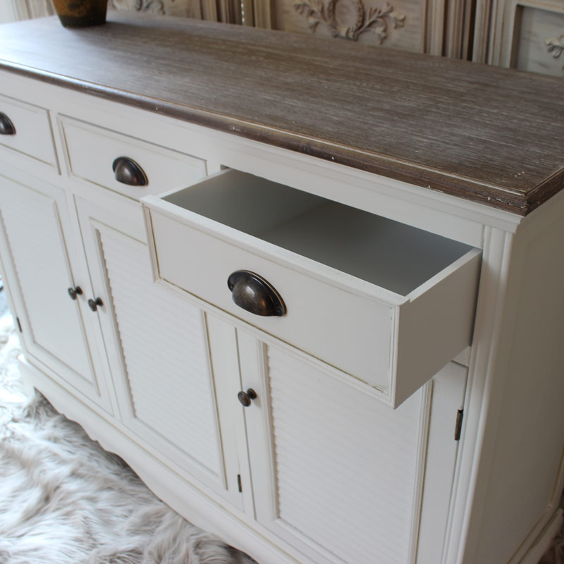 Large White Sideboard Cabinet