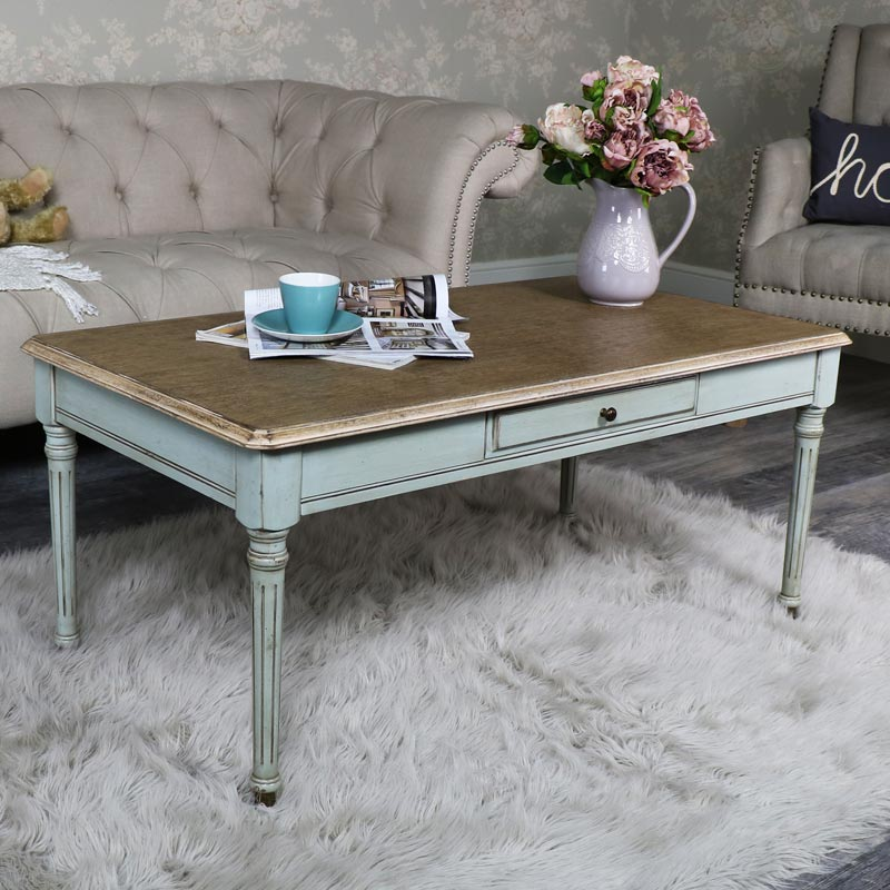 Large Wooden Coffee Table with Drawer Storage - The Aston Range