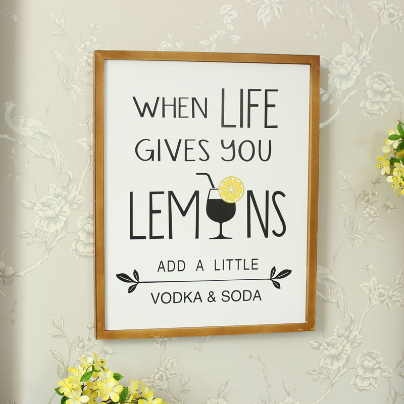 'Life Gives You Lemons' Wall Mounted Plaque