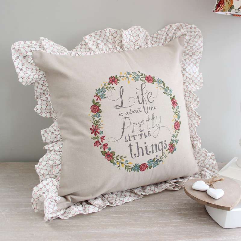 'Life is about the pretty little things' Scatter Cushion