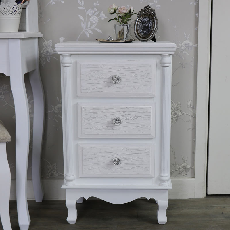 Lila Range - White Bedside Table Chest