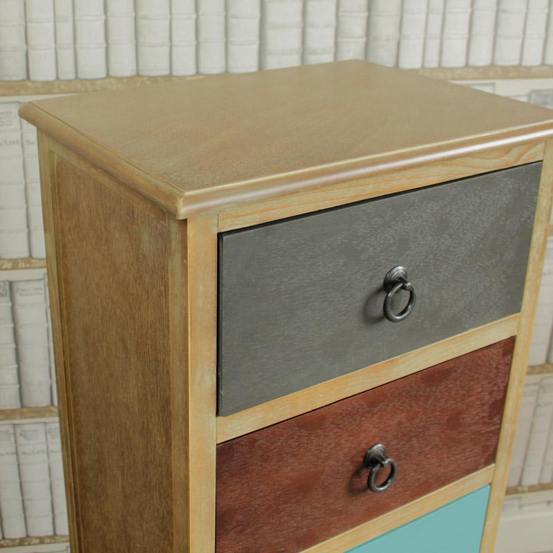 Loft Living Range - Natural Drift Wood 5 Drawer Unit