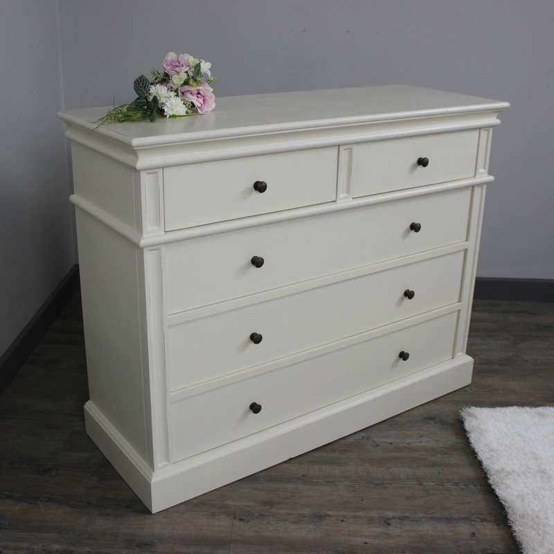 London Range - Cream 2 Over 3 Chest Of Drawers