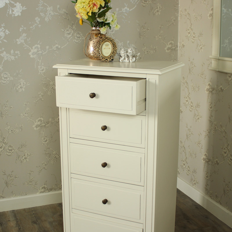 London Range - Cream 5 Drawer Tallboy