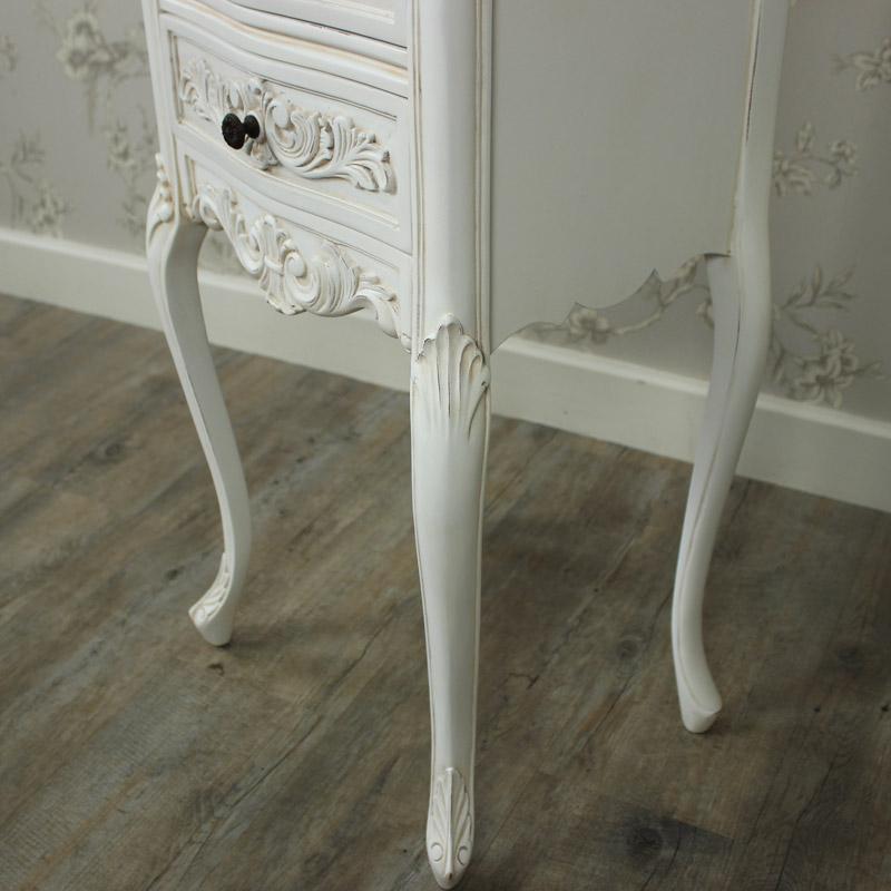 Louis XV Range - Ivory Ornate Bedside Table - Melody Maison®