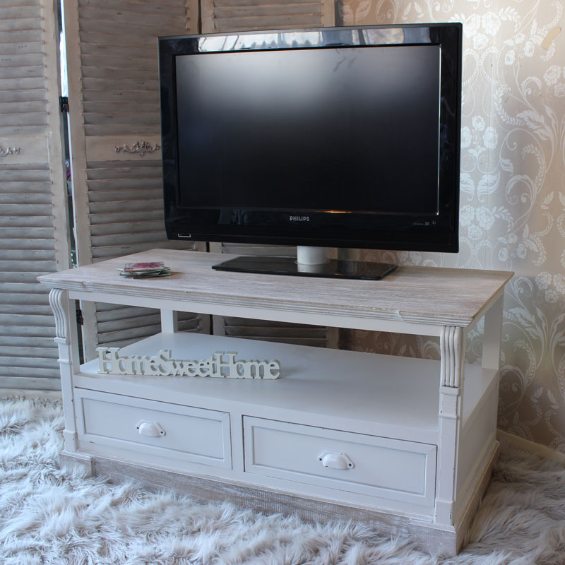 Lyon Range - Antique Cream Media TV Unit