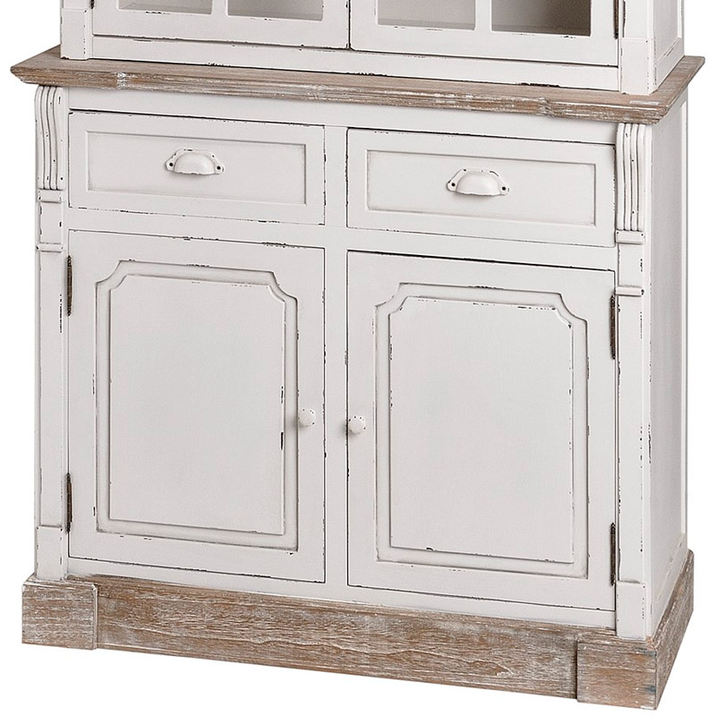 Lyon Range - Antique White Kitchen Display Glazed Cabinet