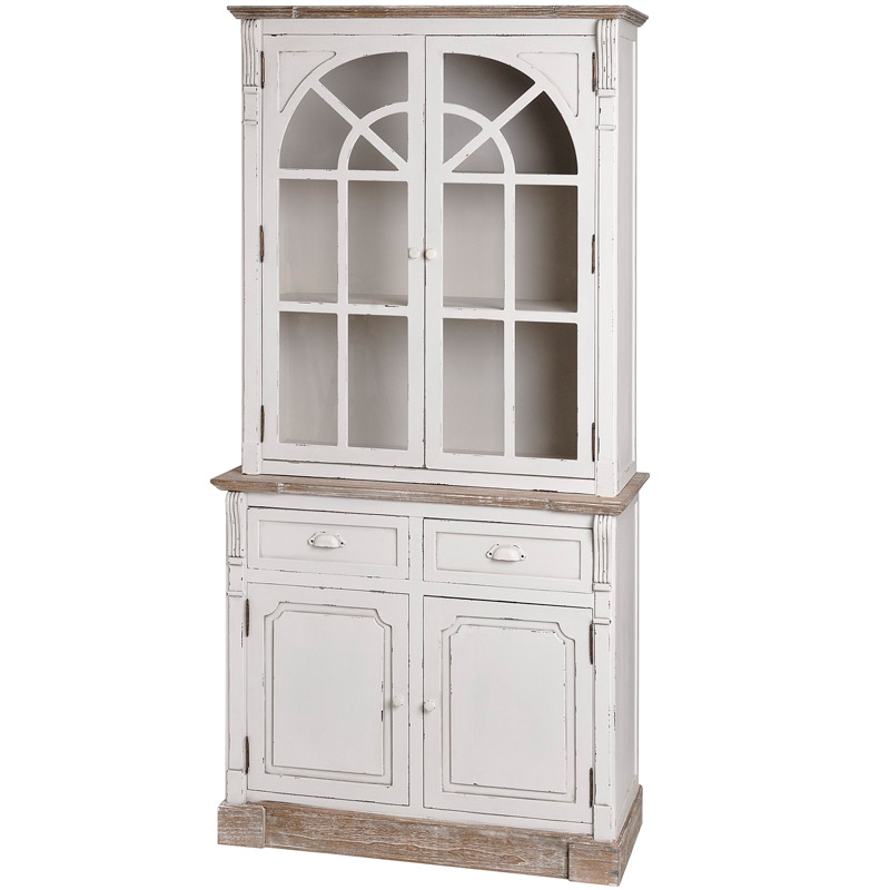 lyon range antique white kitchen display glazed cabinet