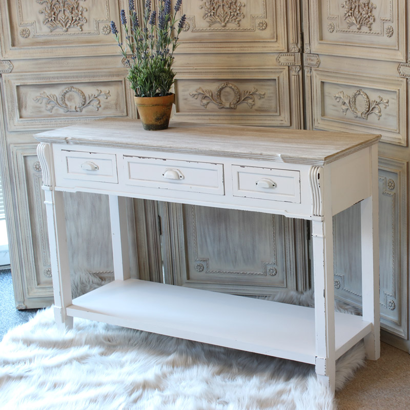Lyon range sideboard console table melody maisonr for Cream hall table
