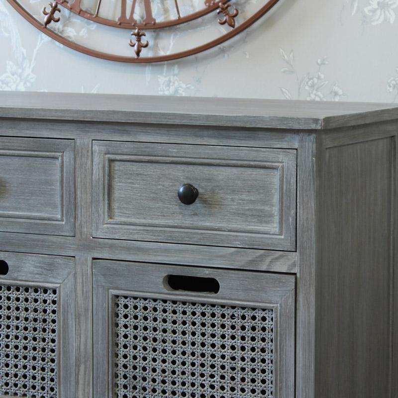 Milan Range - Grey Eight drawer Chest of Drawers